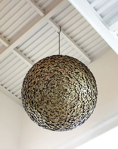Giant Wooden Sphere Made from Interlocking Wood by Lee Jae-Hyo