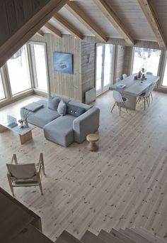 Cabin: Midt i hjertet Cabin Interiors, Wood Interiors, Cabin Homes, Log Homes, Scandinavian Cabin, Interior And Exterior, Interior Design, Interior Stylist, Inspired Homes