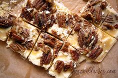 Ketogenic Low Carb No Sugar Pecan Pie Fudge! Have your holiday treats, and stay keto!