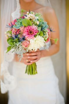 Gorgeous use of colour and texture in this bouquet