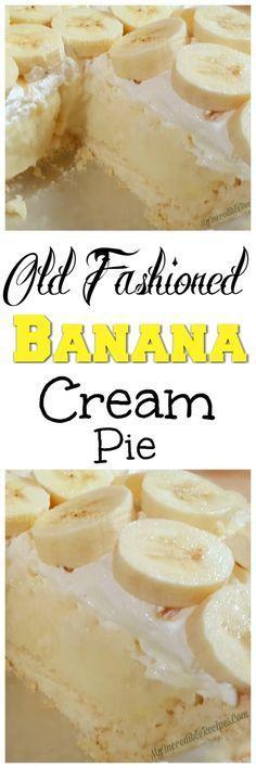 Old Fashioned Banana Cream Pie! – My Incredible Recipes (dub reggae crust for GF crust)