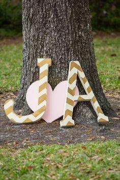 every last detail | wedding inspiration | letter decor | wedding details | initials | DIY