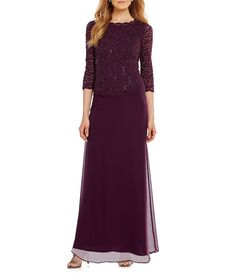 Mother Of Groom Dresses, Mothers Dresses, Bride Dresses, Woman Dresses, Wedding Dresses, Chiffon Skirt, Lace Chiffon, Alex Evenings, Mom Dress