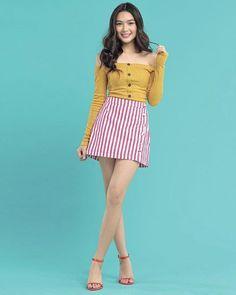 Filipina Girls, Filipina Actress, Filipina Beauty, Star Magic, Short Jumpsuit, Outfit Goals, Creme, Girl Outfits, Glamour