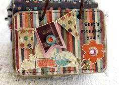 sweet mini album: monthly inspirations...little desktop flip book by Linda Albrecht