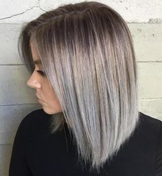 Silver Bob With Root Fade
