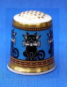 MINTON ARCHIVE COLLECTION THIMBLE.....CATS