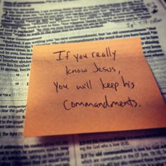 """{1 John 2:3} """"And we can be sure that we know Him IF we obey His commandments."""""""