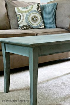 Duck Egg coffee table with Annie Sloan Chalk Paint