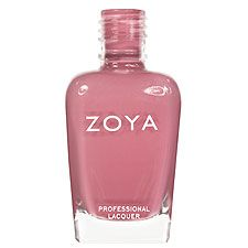 Zoya Nail Polish in Zanna - Muted light rose-mauve or Thulite pink with subtle lavender undertones in a smooth creme finish
