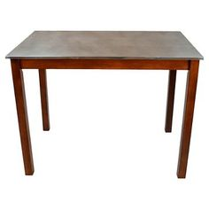 Cooper Stainless Steel Top Bar Table Wood/Chestnut