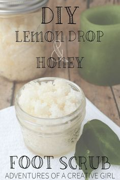 DIY Foot Scrub: Lemon Drop & Honey - DIY Foot Scrub: Carrie from The Lavender Hytta shows you how to make your very own using lemon essential oils and honey! Perfect remedy for smooth summer-ready feet.