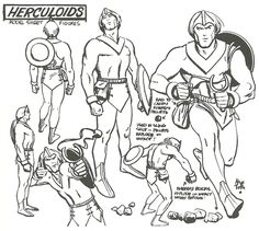 brianmichaelbendis:        Alex Toth model sheets for Hanna-Barbera's Herculoids, from Alex Toth:By...