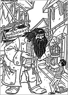 Harry Potter Tegninger til Farvelægning. Printbare Farvelægning for børn. Tegninger til udskriv og farve nº 56