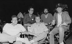 Robert Zemeckis, Bob Gale, Michael J. Fox, Neil Canton and Steven Spielberg | Rare celebrity photos