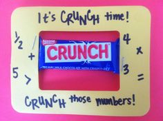 """Testing treats for CRCT week.  """"It's CRUNCH time. CRUNCH those numbers."""""""