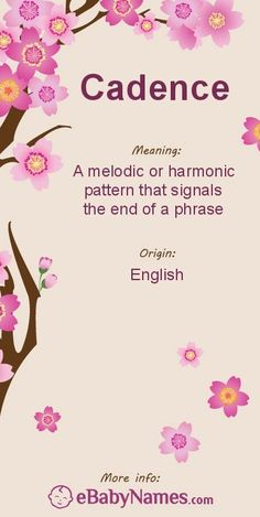 """Meaning of Cadence: The musical term, cadence, derives from the Latin word """"cadere,"""" meaning """"to fall"""