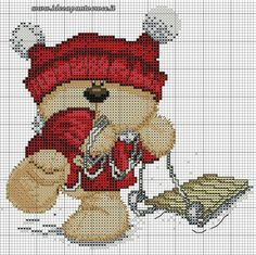 Merry Christmas Fizzy Moon 3 of 4 ideeapuntocroce. Xmas Cross Stitch, Just Cross Stitch, Cross Stitch Baby, Cross Stitch Charts, Cross Stitch Designs, Cross Stitch Patterns, Loom Patterns, Cat Cross Stitches, Cross Stitching