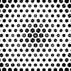 techno hexagons