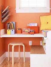 This built in workstation is great for when the kids do their homeowork