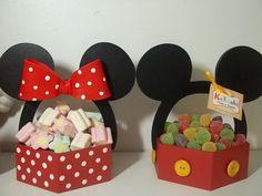 dulceros o contenedores de mickey y minnie