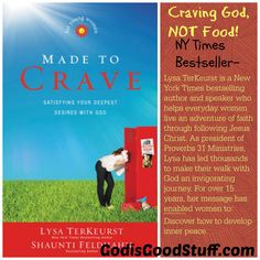 Understanding your cravings . Now ONLY $7.49 http://www.godisgoodstuff.com/made-to-crave-for-young-women-satisfying-your-deepest-desires-with-god/