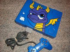 Custom Painted Spyro the Dragon Playstation.