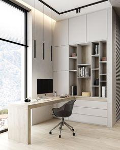 """DESIGN & DECOR Interior Studio on Instagram: """" dede_project: домашнее рабочее место 🤓 ——————————————————— Если вы работаете дома, все должно быть под рукой: удобный рабочий стол,…"""""""