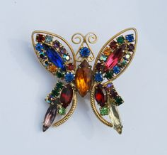 Check out this item in my Etsy shop https://www.etsy.com/listing/244137081/vintage-rhinestone-juliana-butterfly