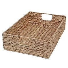 Wicker Storage Tray Basket - Water Hyacinth Medium - 35x22x9cm (Medium - L 35 x W 22 x D 9cm): Amazon.co.uk: Kitchen & Home