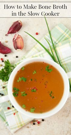 How to Make Bone Broth in the Slow Cooker {Real Food, Paleo, Primal, Traditional Foods, Frugal Living, Healthy Recipes}