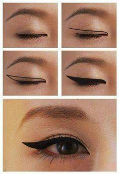 How to Apply Winged Eyeliner for Different Eye Shapes Winged Eyeliner for Monolids – Das schönste Make-up Asian Eye Makeup, Eye Makeup Tips, Makeup Inspo, Beauty Makeup, Makeup Products, Makeup Ideas, Asian Makeup Tutorials, Beauty Uk, Makeup Brands
