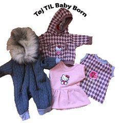 tøj-til-BabyBorn Baby Simba, Baby Born, Diy Baby, Canada Goose Jackets, Onesies, Winter Jackets, Teddy Bear, Disney, Kids