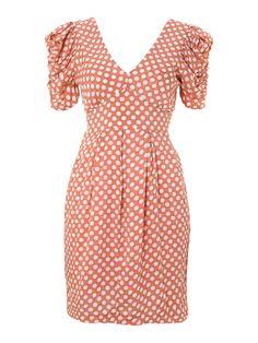 JOLIE MOI Puffy Shoulder Dress