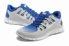 2013 Nike Free 5.0 V2 Grey Sapphire Blue Unisex Design  Grey  Womens   Sneakers cc5e06678981