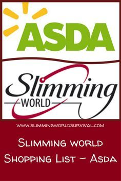 Shopping List of foods suitable for slimming world at Asda. Slimming World Eating Out, Iceland Slimming World, Asda Slimming World, Slimming World Healthy Extras, Slimming World Shopping List, Slimming World Survival, Slimming World Tips, Slimming World Recipes, Shopping Lists