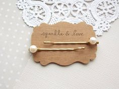 AAA Bridal Freshwater Pearl Gold Bobby Pin Set by sparkleANDlove, $3.50