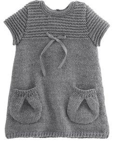 Örgü bebek elbisesi modelleri 2