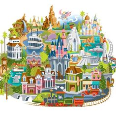 Disneyland cross stitch map