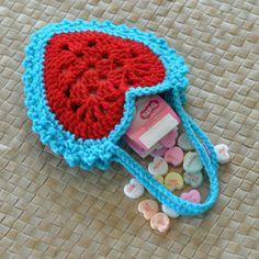 PDF Granny Herz Superstar hängende Herzen Valentine häkeln Muster