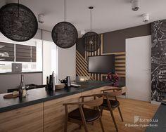 la vivienda familiar con un niño, un Bordo, cocina de diseño del estudio, el diseño de interiores Formo.ua