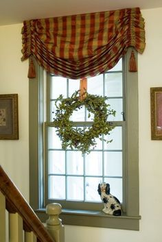 Cottage window treatment #windowtreatments