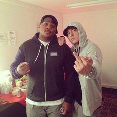 8-20-2013 Glasgow Eminem and Mr Porter