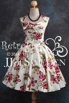 Hey, I found this really awesome Etsy listing at https://www.etsy.com/listing/190784204/retro-dress-flower-patterned-designed