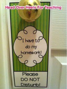 Head Over Heels For Teaching: Door Hangers!