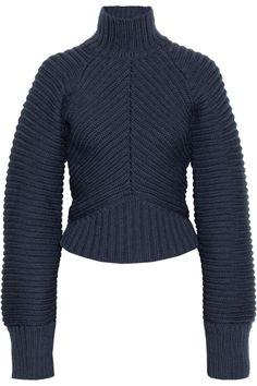 Vionnet Chunkyknit Merino Wool Sweater in Blue