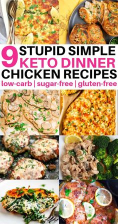 These keto chicken recipes for dinner are SO GOOD! Im so happy I found these new keto dinner meal ideas to try. My favourite is the keto chicken parmesan and keto chicken thighs recipe. Keto Chicken Thigh Recipes, Keto Crockpot Recipes, Easy Chicken Recipes, Cooker Recipes, Diet Recipes, Recipe Chicken, Chicken Recipes For Diabetics, Crockpot Ideas, Freezer Recipes