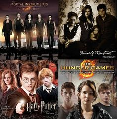 The Hunger Games, Twilight, Harry Potter and The Mortal Instruments