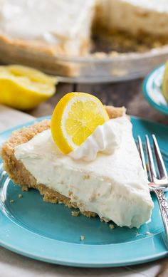 No-bake Lemon Icebox Pie only takes minutes of prep time. A cool and creamy dessert perfect for summer!