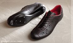 DROMARTI Revives the Leather Shoe, Beautiful handmade Italian leather cycle shoes and Italian bicycle frames